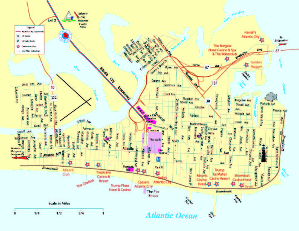 Atlantic City Map Related Keywords Amp Suggestions